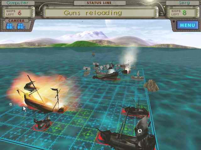 SeaWar: The Battleship 3D strategy Battleship Game, four episodes, network mode