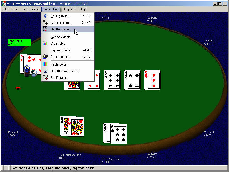 Free downloadable poker games