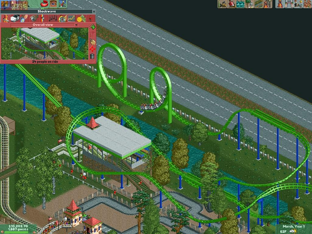 Full Rollercoaster Tycoon 2 version for Windows