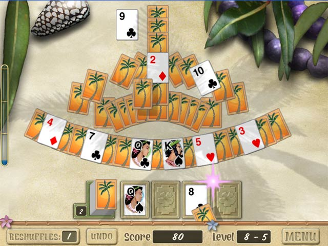 tripeaks aloha gamehouse solitaire 2