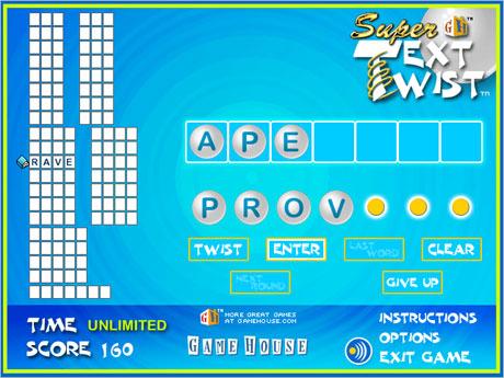Free download game super text twist, play now super text twist.